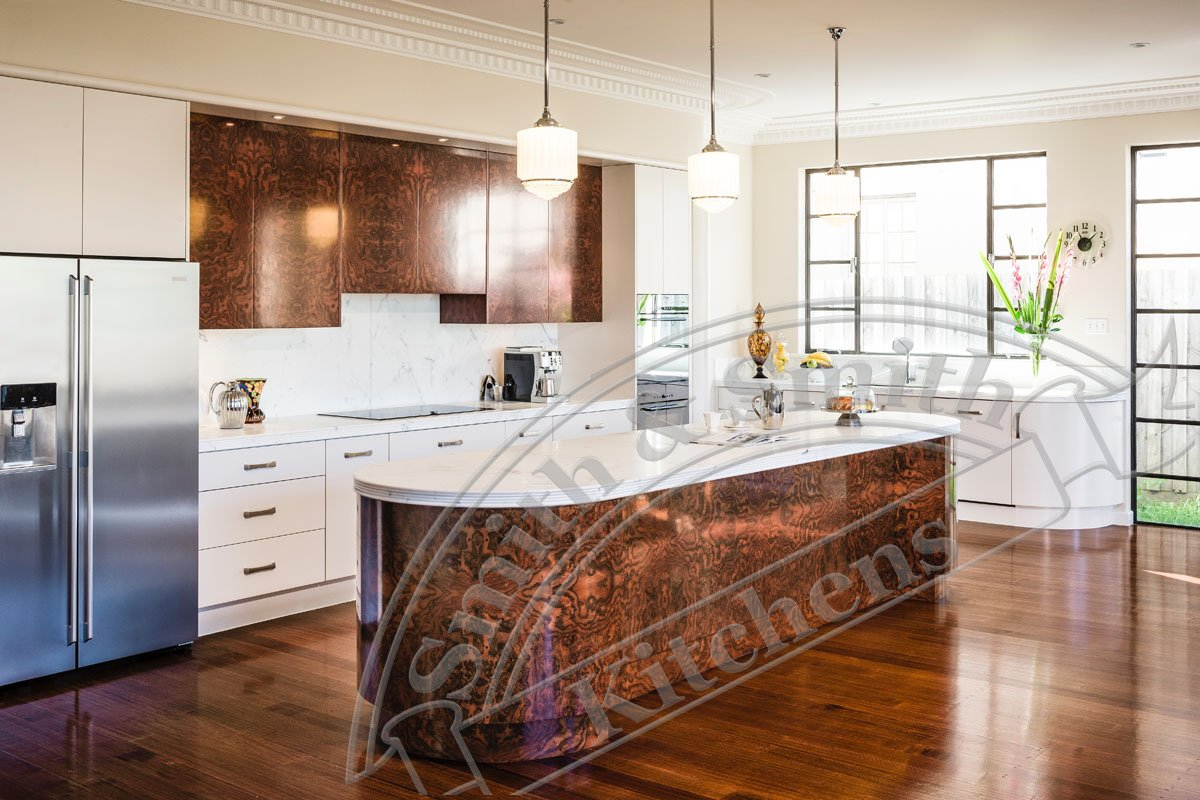 Art deco kitchen by smith smith kitchens for Kitchen kitchen
