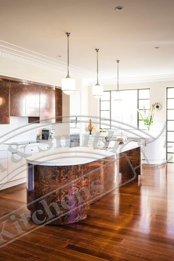art deco kitchen walnut veneer art deco kitchen by smith  u0026 smith kitchens  rh   smithandsmith com au