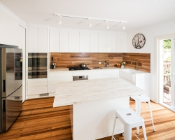 Smith & Smith Kitchens, contemporary white kitchen, photo by Tim Turner