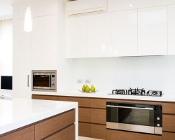 Modern Kitchen, Timber Veneer