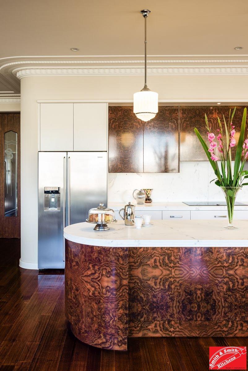 Glen iris modern industrial smith and smith kitchens for Modern art deco kitchen design