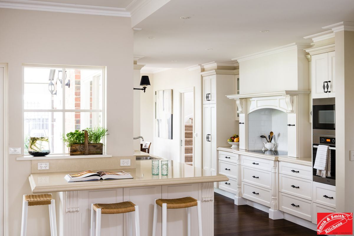 Benchtops countertops smith smith kitchens for Kitchen design country style