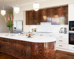Art Deco Kitchen, Walnut Veneer