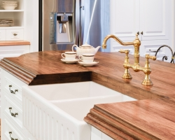 French Provincial Kitchen, Timber Benchtop