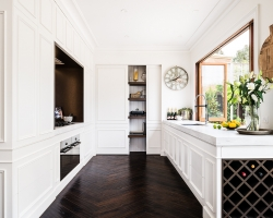 Frankston Entertainer - pantry revealed by sliding door