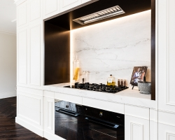 Frankston Entertainer - cooking alcove and framing strip lighting.
