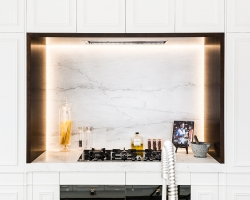 Frankston Entertainer - close up on cooking alcove and framing strip lighting.
