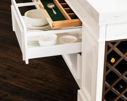 Frankston Entertainer - hidden baize lined drawer for cutlery