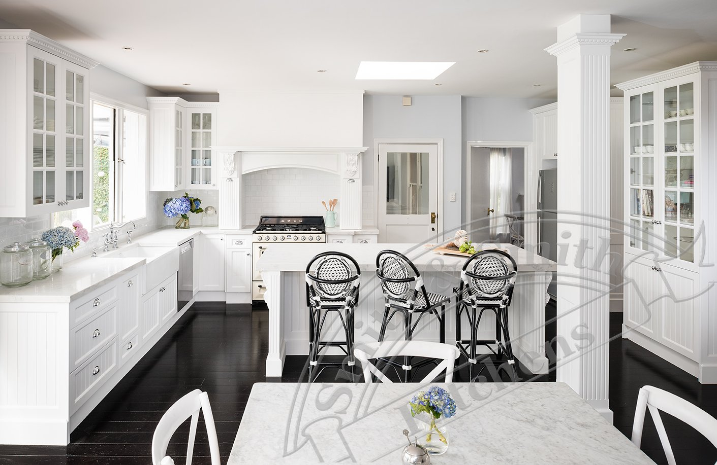 French Provincial Kitchen - black and white