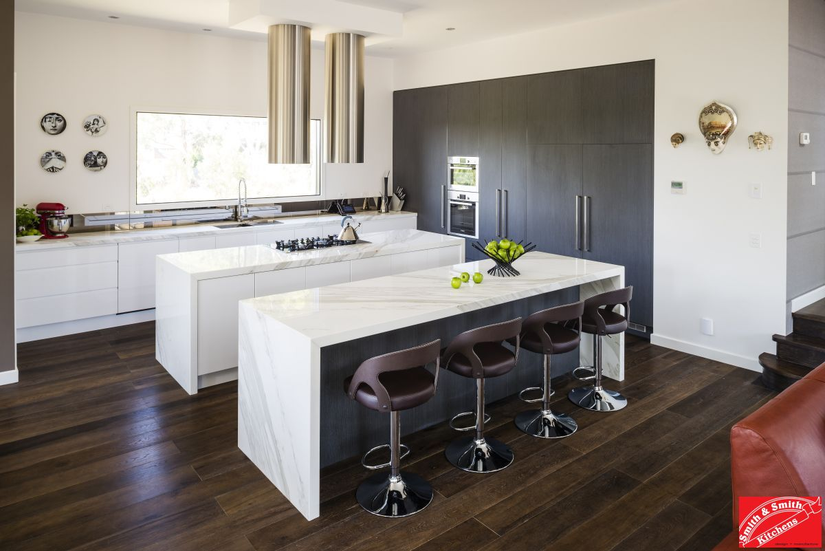 Modern Galley Kitchen With Island