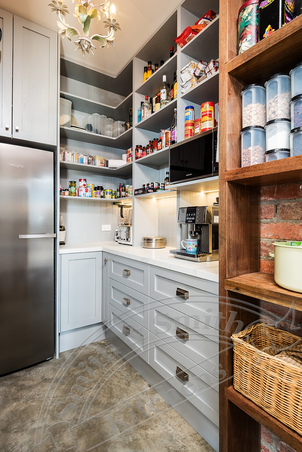 Silvan farmhouse butler's pantry by Smith & Smith, Photos - Tim Turner