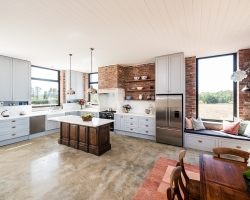 Silvan Expansive Farmhouse Style Kitchen With a View