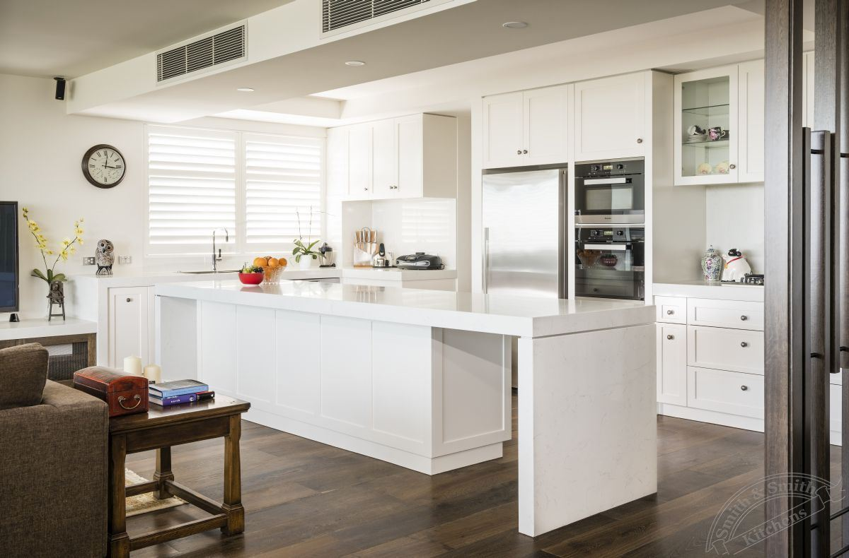 Modern White Kitchen - Toorak