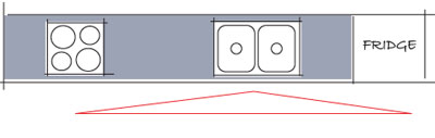 single-line-plan-melbourne-kitchens