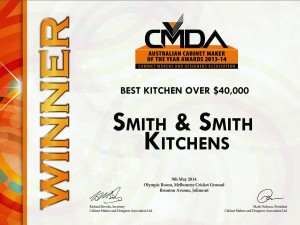 CMDA Winner - Best Kitchen over $40,000 - Smith & Smith Kitchens