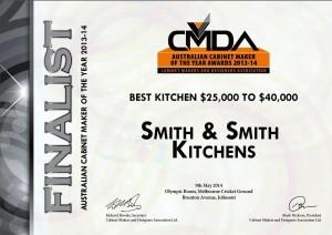 CMDA Finalist - Best Kitchen $25,000-$40,000 - Smith & Smith Kitchens