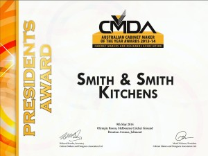 CMDA President's Award - Smith & Smith Kitchens