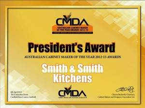 CMDA President's Award - Australian Cabinet Maker of the Year - Smith & Smith Kitchens