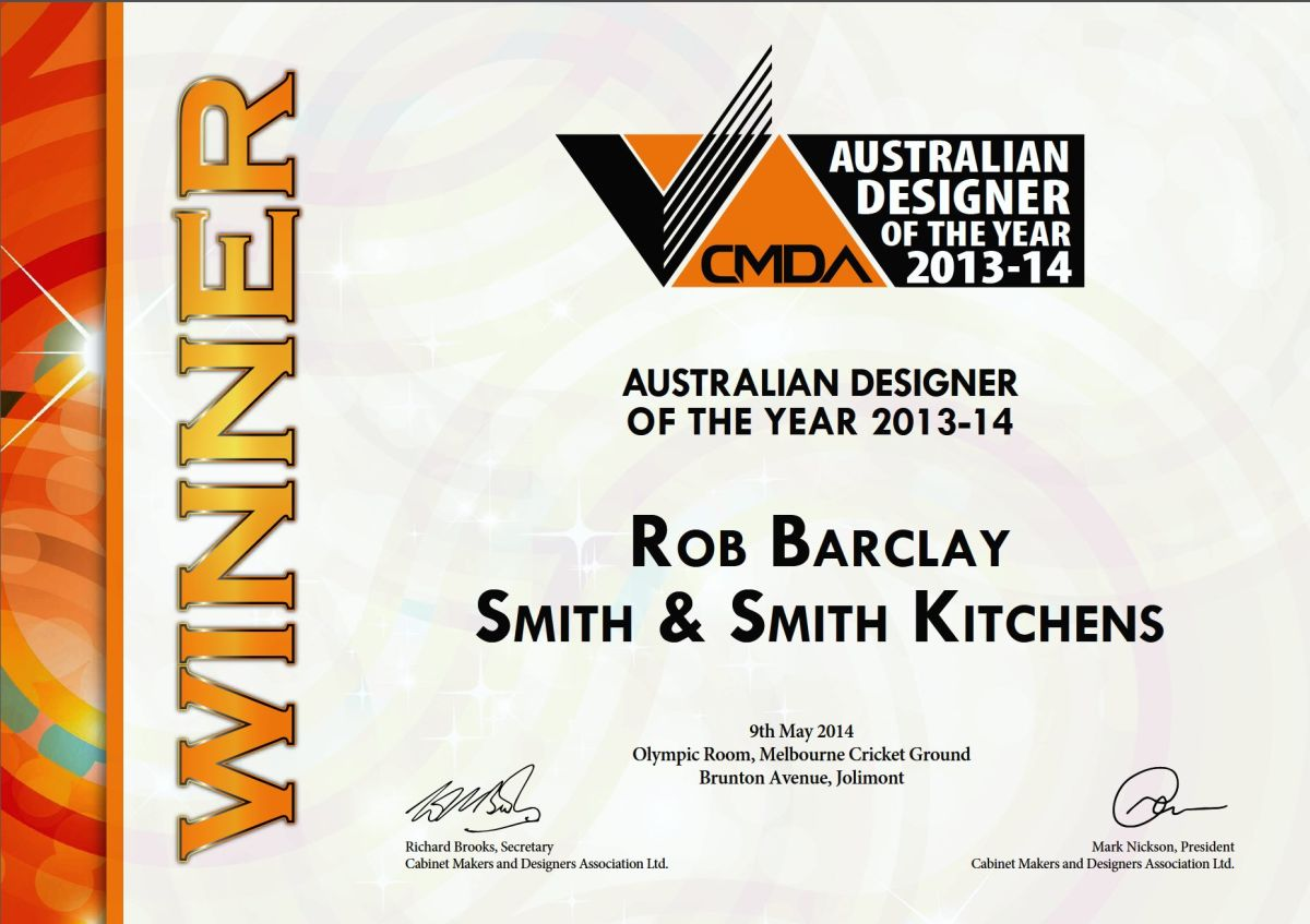 CMDA Presidentu0027s Award   Smith U0026 Smith Kitchens, CMDA Winner   Australian  Designer Of The Year   Rob Barclay   Smith U0026 Smith Kitchens Part 55