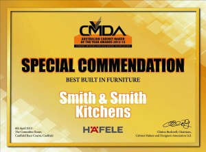 CMDA Special Commendation - Best Built in Furniture - Smith & Smith Kitchens