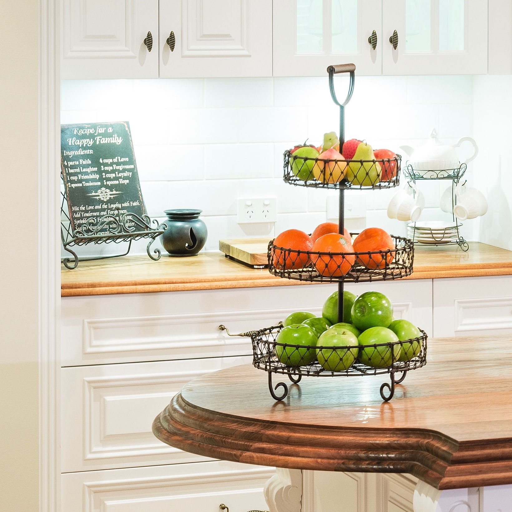 French Provincial Kitchen, Timber Benchtop - Smith & Smith