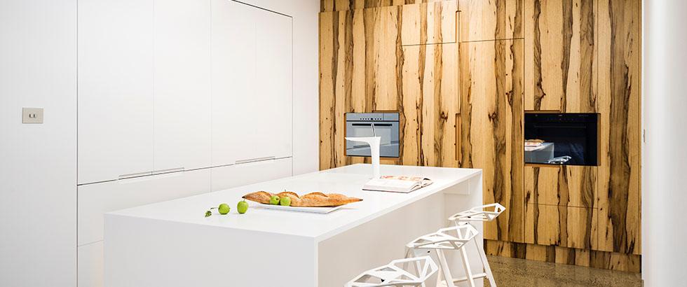 White Kitchen Modern Hidden Kitchen Timber VeneerAustralian Kitchen Design  Trends 2016 Smith Smith. Modern Australian