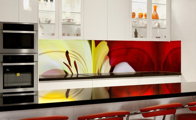 Vr Art Glass Printed Splashback