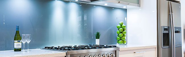 Kitchen Splashback: Glass